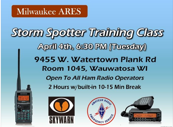 Milwaukee ARES Storm Spotter Training.